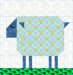 Patch Sheep quilt block pattern