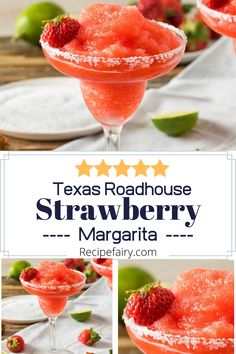 This Texas Roadhouse margarita recipe is perfect after a long day! There really is nothing like this copycat margarita recipe to unwind. Easy Drink Recipes, Sangria Recipes, Yummy Drinks, Cooking Recipes, Copycat Recipes, Frozen Strawberry Desserts, Strawberry Margarita, Strawberry Recipes, Texas Roadhouse Margarita Recipe