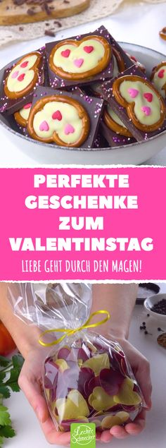 If you press the pretzel firmly onto the floor, you have the perfect gift for Valentine's Day. Valentines Day Food, Valentines Day Messages, Valentines Day Pictures, Valentines Day Activities, Valentines Day Gifts For Him, Valentine's Day Poster, Creative Food, Yummy Food, Ethnic Recipes