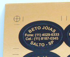 Beto Jóias - papel laminado ouro