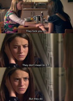 Skins - Effy and Pandora Skins Quotes, Film Quotes, Best Tv Shows, Movies And Tv Shows, Skins Generation 2, Skin Aesthetics, Effy Stonem, Skins Uk, Kaya Scodelario