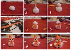 .Fondant hóember készítése képekben  Alapanyagokat , ételfestékeket vásárolj a GlazurShopban! http://shop.glazur.hu