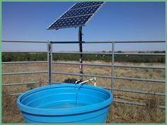 Advanced Power Inc. solar well pump install of a system. Solar water well pump installation by Advanced Power Incorporated. Solar Powered Water Pump, Solar Water, Solar Powered Lights, Water Pump System, Water Systems, Water Powers, Energy Companies, Solar Installation, Rain Barrel