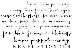 Revelation 21:4 || Take Heart