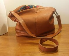 Brown Soft Leather Crossbody Bag Shoulder Messenger Kennedy's Garden Handmade in USA by jewelrypieces on Etsy