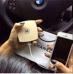 Chic Cell Phone Charger for iPhone and Android Phones. Use this as a back up portable charger and a compact mirror to touch up your makeup. Just plug your USB into the charger and it starts charging. A glam item that works when your on the go.  Charge your phone in style!  5000mAh rechargeable...