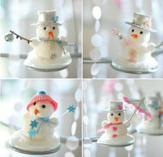This winter wonderland party submitted by Dunja of Wunderschoen-gemacht, was held for her daughter's birthday. Winter Birthday Parties, Winter Parties, Vintage Christmas Crafts, Christmas Tea, Christmas Decor, Schneemann Party, Winter Shower, Snowman Party, Birthday Chocolates