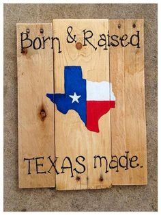 Pallet Wood Sign  Born & Raised Texas Made by OnTheSideWCD on Etsy, $35.00 #texas