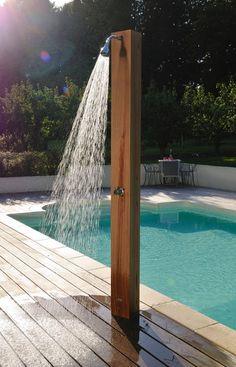 Meer dan 1000 idee n over douche solaire op pinterest panneau solaire pisci - Construire douche exterieure ...