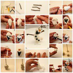 Lara Costantini Cake Designer: OLAF'S TUTORIAL - OLAF FROM FROZEN!!!