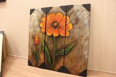 Hand-painted Abstract Floral Oil Painting, Red Spring BLOSSOM Flower Wall Decor Fine Art, Testimonials: http://www.studiomojoartwork.com/pages/testimonials