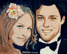 Portrait of newlyweds,Nice
