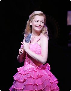 In this picture galinda is looking very confident with the bright colours of the dress and this also shows that she is well known and a popular figure Wicked Costumes, Broadway Costumes, Flower Girl Dresses, Prom Dresses, Formal Dresses, Wedding Dresses, Wicked Musical, Musical Theatre, Broadway Stage