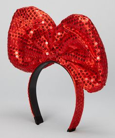 Another great find on #zulily! Red Sequin Giant Bow Headband #zulilyfinds