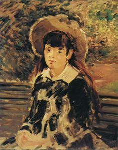 Édouard Manet | Young Girl on a Bench 1880 | 74.9 x 61 cm Oil on canvas
