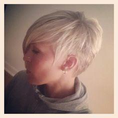 Short hair.