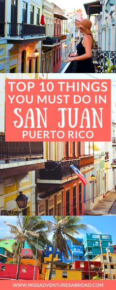 10 Things You Won't Want To Miss In San Juan, Puerto Rico · San Juan is one of the most beautiful and historic cities in the Caribbean. Discover the top 10 things to do in San Juan. From wandering the colorful streets of Old San Juan to visiting historic buildings and the most Instagram-able spots in town, you won't want to miss out on these awesome things to do and see on your next trip to Puerto Rico!