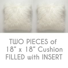 TWO PCS of Mongolian Lamb Fur Cushions (Filled) from GlamorousJILL by DaWanda.com