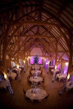 Our amazing winter wedding breakfast room Rivervale barn  venue Hampshire Sarah and Ben 15/12/12