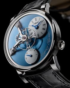 MBandF LM101 Watch Now In Platinum With Blue Dial