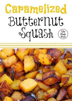 This Caramelized Butternut Squash is simple, and has a little secret ingredient to make it special! Check it out!
