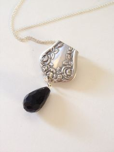 Spoon Necklace Spoon Jewelry Ornate Spoon Jewelry by GeorginaBaker, $40.00