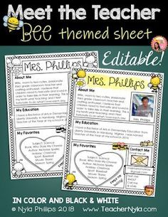 Meet the Teacher Letter - Editable Template - Bee Theme New Classroom, Preschool Classroom, Classroom Themes, Classroom Libraries, Classroom Layout, Classroom Board, Autism Classroom, Classroom Design, Kindergarten