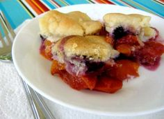 quick and simple cobbler, easily veganized