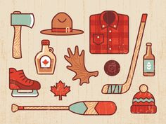 Canada by Andrey Gargul - Dribbble Bullet Journal Canada, Canada Logo, Canada Canada, Canada Day Fireworks, Canadian Identity, Bullet Art, Affinity Designer, Day Planners, Illustrations