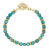 Anna Beck Turquoise Beaded Bracelet in 18K Plated Gold and Sterling Silver