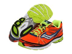 Saucony Progrid Guide 5 /  I remember having the Progrid 3 in the 3rd-5th. I ran with them all through those years in cross country and I absolutely loved them. I actually got the boys green and black ones because they felt better on my narrow feet. Overall a great shoe and set some great prs for a 8-10 year old.