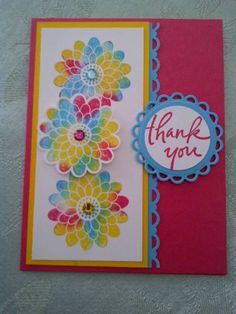Baby Wipe Technique Card by TrudyW - Cards and Paper Crafts at Splitcoaststampers
