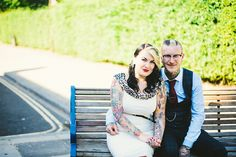 tattoo filled wedding of