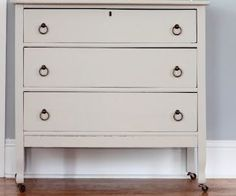 idea for mom's old dresser- paint + pulls