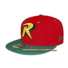 522ea8fb4b1 DC COMICS x NEW ERA Robin」 59Fifty Fitted Cap ❤ liked on Polyvore featuring  accessories
