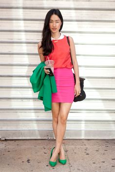 Nicole Warne of Gary Pepper Vintage #colorblocking