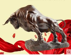 Size:35*12*23cm *DEAL* Large 100% Bronze Taurus BULL Statue Sculpture Art cooking tools Decoration 100% Brass Bronze