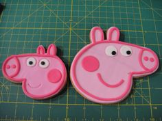Peppa Pig and George Cookies with pipping.