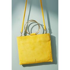 Thacker Le Pouch Crossbody Bag ($158) ❤ liked on Polyvore featuring bags, handbags, shoulder bags, yellow motif, leather cross body handbags, leather purses, yellow crossbody, crossbody purse and genuine leather shoulder bag