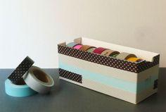 Washi Tap Cardboard Tape Dispenser idea.