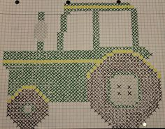 tractor..If I could only find this as a real pattern! @Sarah Clarke Help!