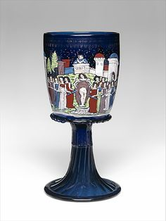 Goblet | Venice (Murano), Italy | Date: ca. 1475-1500 | Material: glass, enameled and gilded | The Metropolitan Museum of Art, New York