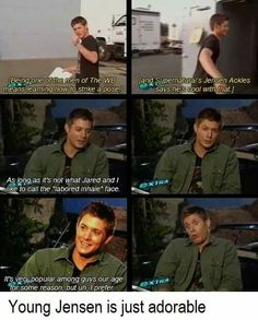 Image discovered by Chelsea. Find images and videos about supernatural, Jensen Ackles and dean winchester on We Heart It - the app to get lost in what you love. Sam Dean, Dean Castiel, Supernatural Jensen, Dean Winchester, Supernatural Quotes, Winchester Brothers, Supernatural Bloopers, Supernatural Tattoo, Supernatural Wallpaper