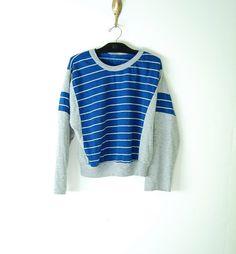 vintage 80s striped sweatshirt