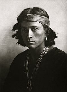 a young Navajo native American