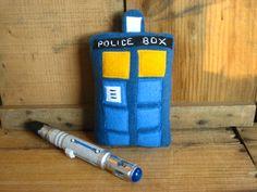 RESERVED - Plush Doctor Who TARDIS. $25.00, via Etsy.