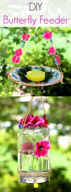 How To Make A Homemade Butterfly Feeder DIY