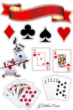 Casino Theme Parties, Casino Party, Casino Night, Las Vegas Party, Alice In Wonderland Crafts, Man Birthday, Poker, Cake Toppers, Scrapbooking