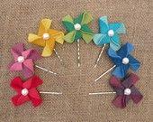 Pick Your Color . Pinwheel Bobby Pin . Mayi Carles