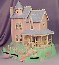 Precious Places Doll House.  The people moved across the floor using a magnetic key.